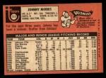 1969 Topps #111  John Morris  Back Thumbnail