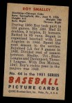 1951 Bowman #44  Roy Smalley  Back Thumbnail