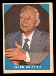 1960 Fleer #15  Clark Griffith  Front Thumbnail