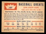 1960 Fleer #57  Johnny Evers  Back Thumbnail