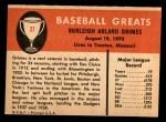 1961 Fleer #37  Burleigh Grimes  Back Thumbnail