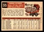 1959 Topps #515  Harmon Killebrew  Back Thumbnail