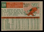 1959 Topps #339  Roy Face  Back Thumbnail