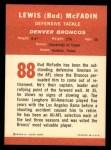 1963 Fleer #88  Bud McFadin  Back Thumbnail