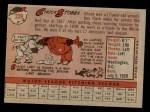 1958 Topps #239  Chuck Stobbs  Back Thumbnail