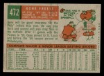 1959 Topps #472  Gene Freese  Back Thumbnail