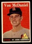 1958 Topps #65 ^WN^ Von McDaniel  Front Thumbnail