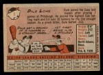 1958 Topps #7  Dale Long  Back Thumbnail
