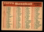 1959 Topps #69   Giants Team Checklist Back Thumbnail
