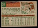 1959 Topps #301  Earl Averill Jr.  Back Thumbnail