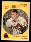 1959 Topps #3  Don McMahon  Front Thumbnail