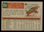 1959 Topps #254  Zeke Bella  Back Thumbnail