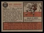 1962 Topps #309  Moe Morhardt  Back Thumbnail