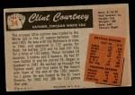 1955 Bowman #34  Clint Courtney  Back Thumbnail