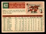 1959 Topps #422  Hobie Landrith  Back Thumbnail