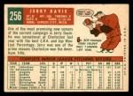 1959 Topps #256  Jerry Davie  Back Thumbnail
