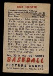 1951 Bowman #33  Bob Hooper  Back Thumbnail