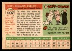 1955 Topps #107  Curt Roberts  Back Thumbnail