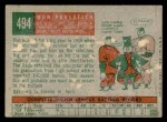 1959 Topps #494  Don Pavletich  Back Thumbnail