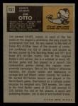 1971 Topps #151  Jim Otto  Back Thumbnail