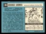 1964 Topps #36  George Saimes  Back Thumbnail