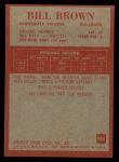 1965 Philadelphia #102  Bill Brown   Back Thumbnail