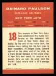 1963 Fleer #18  Dainard Paulsen  Back Thumbnail