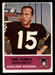 1962 Fleer #68  Tom Flores  Front Thumbnail