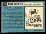1964 Topps #51  Isaac Lassiter  Back Thumbnail