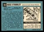 1964 Topps #16  Ross OHanley  Back Thumbnail