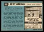 1964 Topps #10  Larry Garron  Back Thumbnail