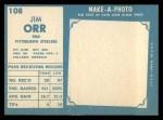 1961 Topps #108  Jimmy Orr  Back Thumbnail