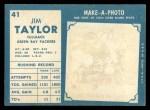 1961 Topps #41  Jim Taylor  Back Thumbnail