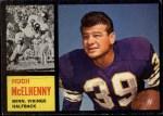 1962 Topps #92  Hugh McElhenny  Front Thumbnail