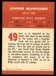 1963 Fleer #49  Chris Buford  Back Thumbnail