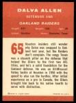 1963 Fleer #65  Dalva Allen  Back Thumbnail