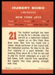 1963 Fleer #21  Hubert Bobo  Back Thumbnail