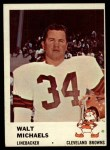 1961 Fleer #18  Walt Michaels  Front Thumbnail