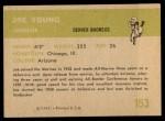 1961 Fleer #153  Joe Young  Back Thumbnail
