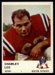 1961 Fleer #181  Charles Leo  Front Thumbnail