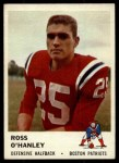 1961 Fleer #184  Ross OHanley  Front Thumbnail