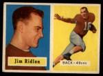 1957 Topps #139  Jim Ridlon  Front Thumbnail