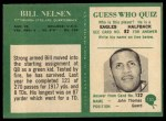 1966 Philadelphia #153  Bill Nelson  Back Thumbnail