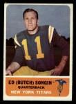 1962 Fleer #63  Butch Songin  Front Thumbnail