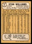 1968 Topps #54  Stan Williams  Back Thumbnail