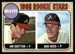 1968 Topps #76   -  Ron Reed / Jim Britton Braves Rookies Front Thumbnail