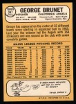 1968 Topps #347  George Brunet  Back Thumbnail