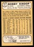 1968 Topps #271  Bobby Knoop  Back Thumbnail