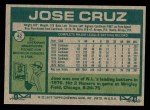 1977 Topps #42  Jose Cruz  Back Thumbnail