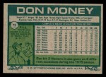 1977 Topps #79  Don Money  Back Thumbnail